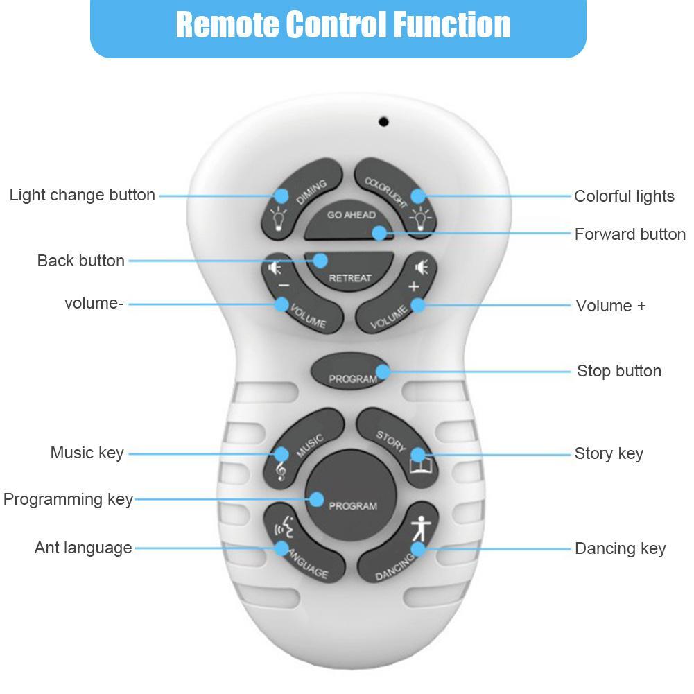 Crianças formiga robô brinquedos de controle remoto