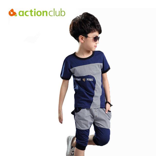 2015 nova chegada crianças roupas meninos roupas de verão de algodão feito carta roupas para meninos KS353
