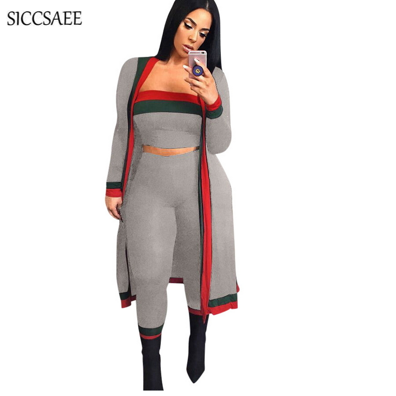 2502de0438 Striped Printed 3 Piece Set Women Long Cardigan African Style Dashiki Tube  Bodysuit Strapless Crop Top Pants Suits Plus Size