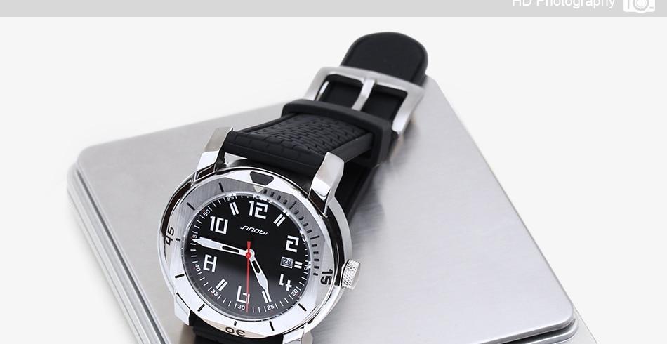 SINOBI Surfing Clock 3Bar Waterproof Watch Mens Sports Wristwatch Designer Branded Chronograph Male Spy Geneva Quartz-watch 007 33