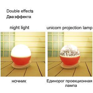 Image 5 - RGB LED الإسقاط يونيكورن مصباح USB 5 فولت بطارية تعمل بالطاقة ضوء الليل الأطفال الطفل هدية النوم ضوء غرفة نوم السرير الجدول مصباح