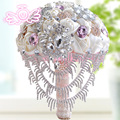 Luxury Wedding Bouquet Diamond Crystal 5 Color Bridal Brooch Wedding Glower Bouquets 2015 New Buque De Noiva bouquet de mariage