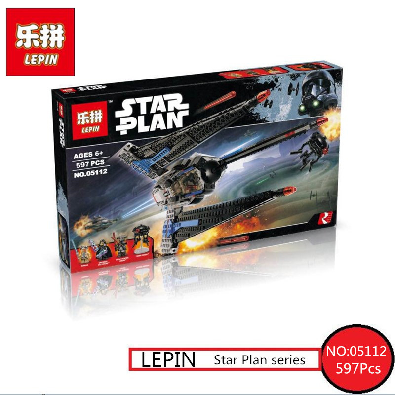Star Serie War Lepin 05112 597Pcs The Tracker I Fighter Set Children Educational Building Blocks Bricks Toy Model 75185 lepin 06058 ninja serie die tempel der ultimative ultimative waffe modell bausteine set kompatibel 70617 spielzeug fur kinder