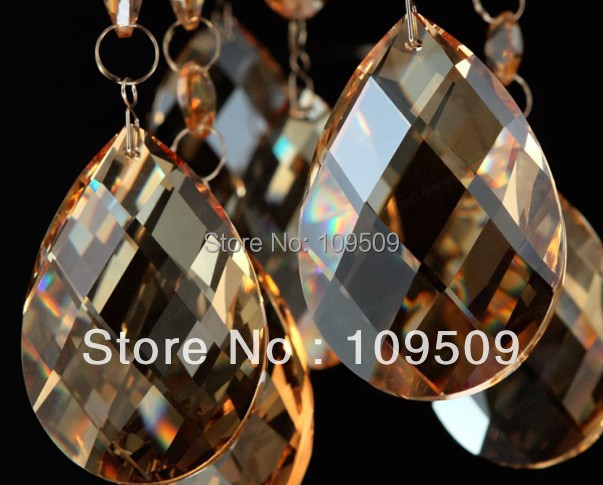 Free Shipping, 216pcs/lot Chandelier Crystals Cognac Almond prism 38mm Teardrop Prism Parts