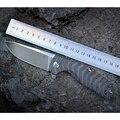 Cuchillo de supervivencia Kizer CPM-S35VN material de la hoja titanio 6AL4V mango de titanio alta calidad herramienta para exteriores