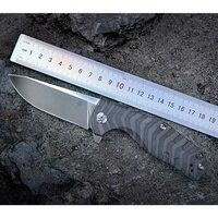 Kizer bushcraft knife survival Ki4461A1 CPM S35VN Blade Material 6AL4V Titanium handle high quality out door pocket knife tool