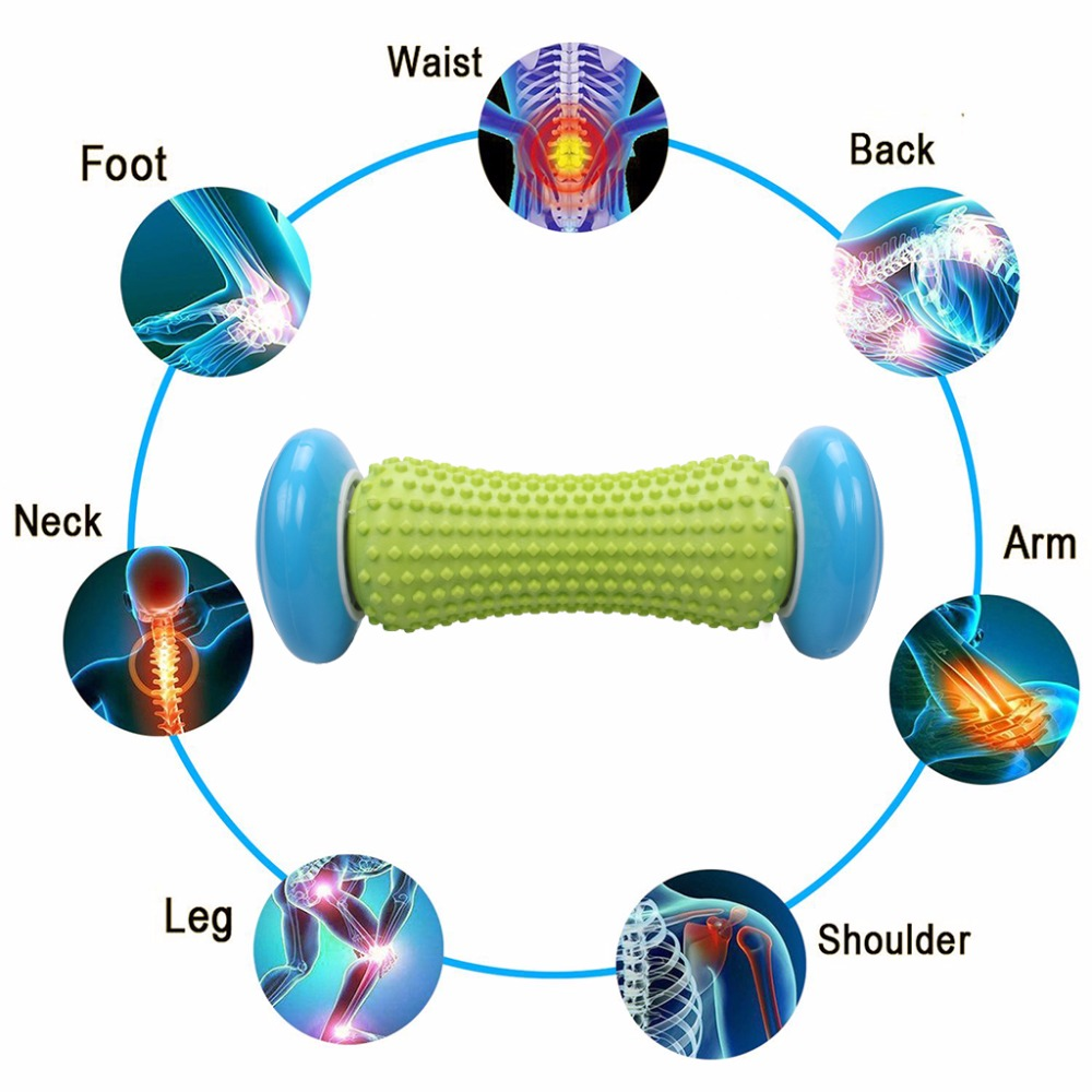 Foot Hand Massage Roller Trigger Point Deep Tissue Physical Therapy For Plantar Fasciitis Heel Foot Arch Pain Relief Yoga Fitness (2)