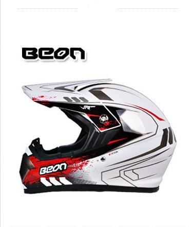 Netherland BEON мотоциклетный шлем для мотокросса высшего качества рыцарь внедорожный мотоциклетный защитный шлем из АБС B-600 Размер M L XL - Цвет: Bright white red