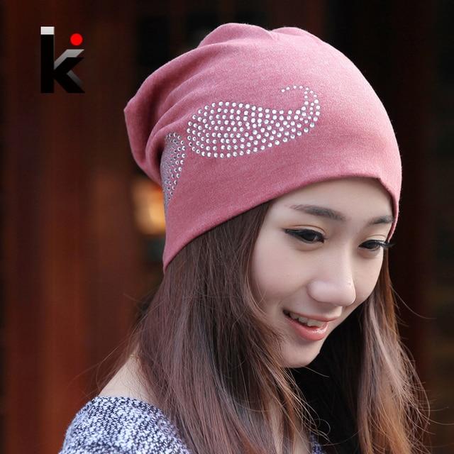 2018 Fashion Spring and Autumn hats beanies diamond beard pattern cap hip- hop Skullies gorro turban hat for women bonnet caps 8eef7c1db684