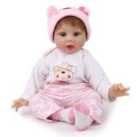 NPK 55cm new design Baby Toys Reborn Dolls Babies Soft Silicone Doll Reborn Best Gift For Fashion Children Birthday Playmate