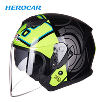 GXT Summer Motorcycle Helmet Open Face Double Lens Moto Helmet Motorbike Scooter Capacete Crash Helmet For Motorcycle Visor
