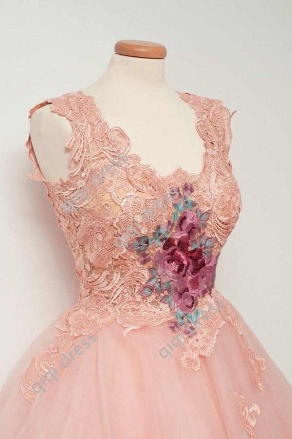 Lace Applique Short Cocktail Dresses 2018 Pink Custom Made Party Dress Latest Gown Design Cheap Vestido De Festa