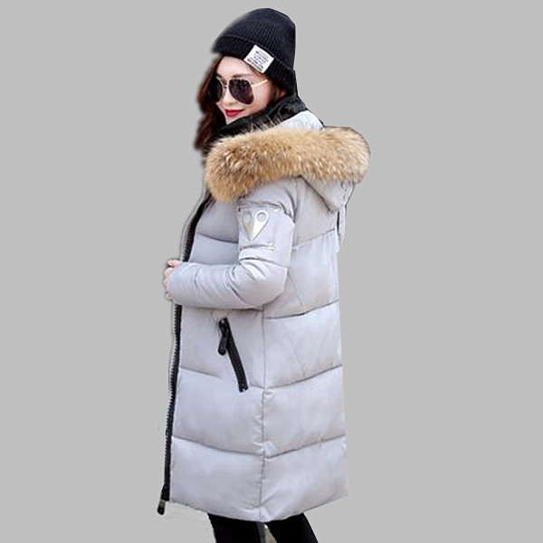Fur hooded down parkas women winter jacket 2016 new fashion long coat jacket slim women's winter jackets plus size loose coats