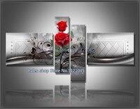 Diy Diamond Painting Cross Stitch Wall Home Decoration Sticker Diamond Embroidery Diamond Crafts Roses 4pcs Set