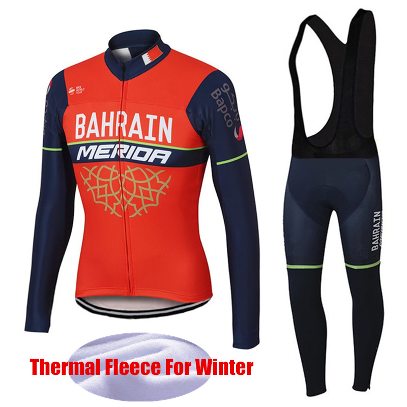 Merida Pro Cycling Clothing Winter Sets Long Sleeve Thermal Fleece Cycling Jersey Road Bike Maillot Ciclismo invierno DT-006 fualrny 2018 thermal fleece bicycle wear bike clothing suit invierno maillot ciclismo winter long sleeve cycling jersey set 006