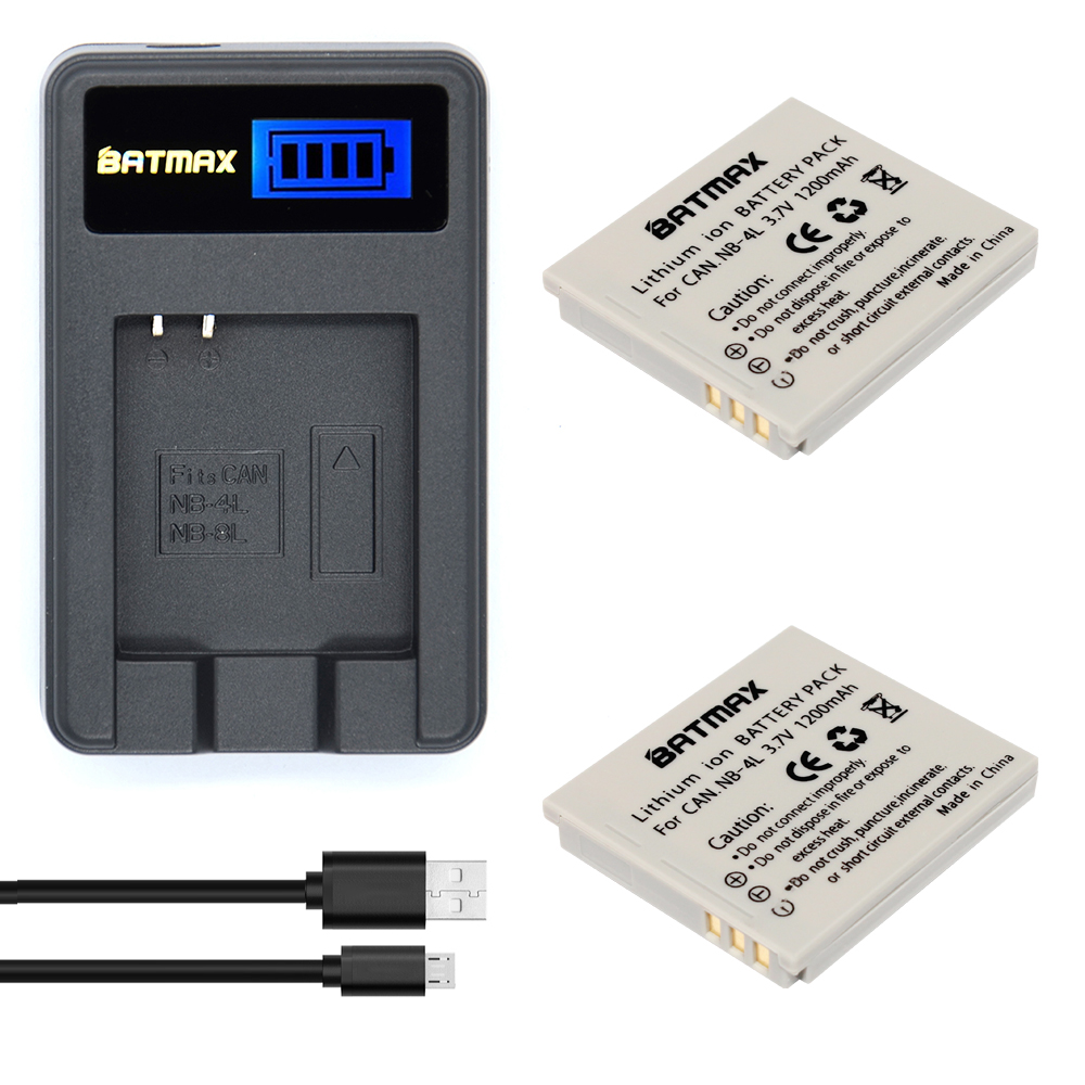 цены на 2Pcs 1200mAh NB-4L NB 4L NB4L Li-ion Batteries+LCD USB Charger for Canon IXUS 60 65 80 75 100 I20 110 115 120 130 IS 117 220 225 в интернет-магазинах