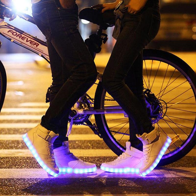 Mode Couleurs White Up 8 Led Chaussures P8c11 Pour Light Hommes black Lumineux Adultes pwXPS4q
