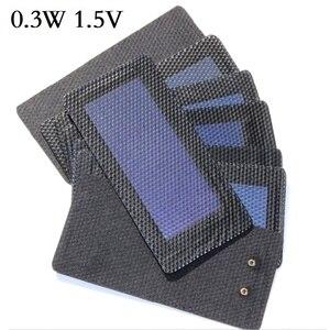 Image 2 - BUHESHUI 0.3 W 0.5 W 0.7 W 1 W 1.5 W 1.5 V Celle Solari Flessibili In Silicio Amorfo Molto Sottile Pannello solare FAI DA TE Caricatore Istruzione Kit