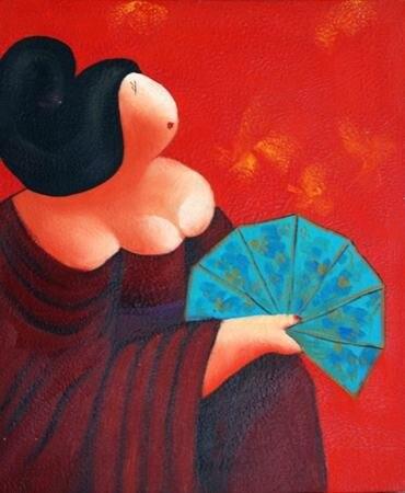 ᗑenvío Libre Figura Moderna Dibujos Animados Chubby Mujeres