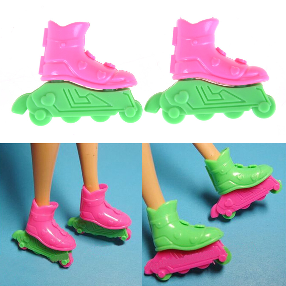 Mini Roller Skate Fancy Doll Shoes Toys for Girls Decorative Kids Girls Toy Roller Play House Doll Accessories Christmas Gift ...