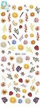 Rocooart DS335 Water Transfer Nails Art Sticker Harajuku Elements Orange Apple Fruits Nail Wraps Sticker Manicura Decal
