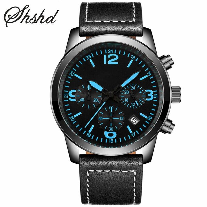 ФОТО Army Watch Analog Display Quartz Wristwatches Military Watch For Men Luminous Sport Clock Men Leather Band Shock Resistant Reloj