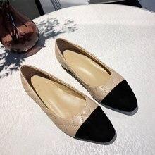 Chueyz/Весенняя Модная брендовая женская обувь Женские однотонные туфли из овечьей кожи с квадратным носком; дышащая Брендовая женская обувь; Size34-41