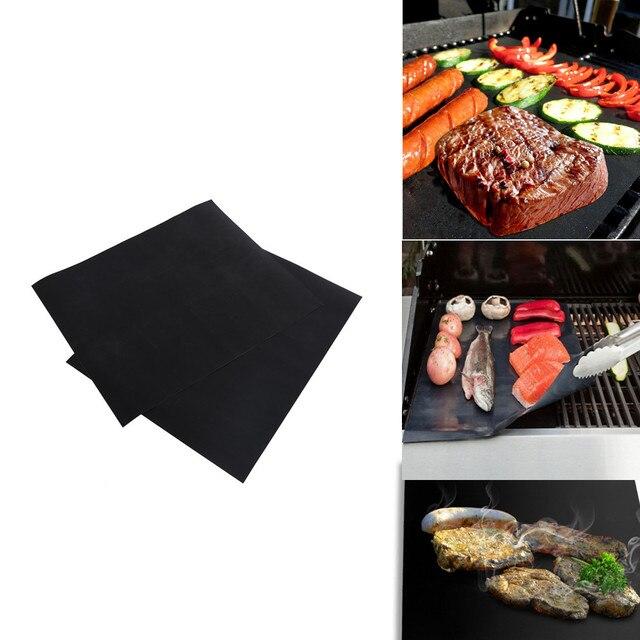 Küche BBQ Grill Matte 2 stücke Antihaft grill Braten matte Blatt ...