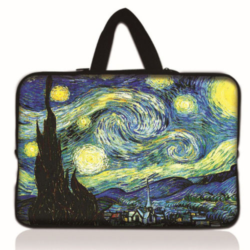 Starry Night Laptop Bag Neoprene Sleeve Netbook Case Cover For 10 12 11.6 13.3 14 17 9.7 <font><b>15</b></font> <font><b>15</b></font>.6 <font><b>ASUS</b></font> Dell HP Macbook Samsung image