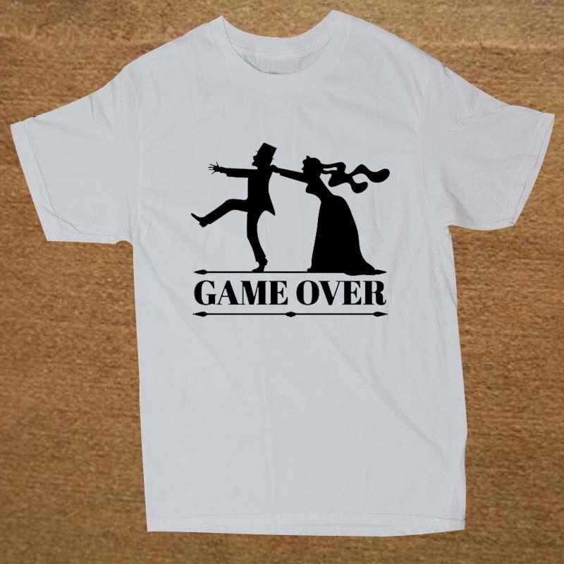 Wonderlijk Game Over Bruid Bruidegom Bachelor Vrijgezellenfeest T Shirt OP-73