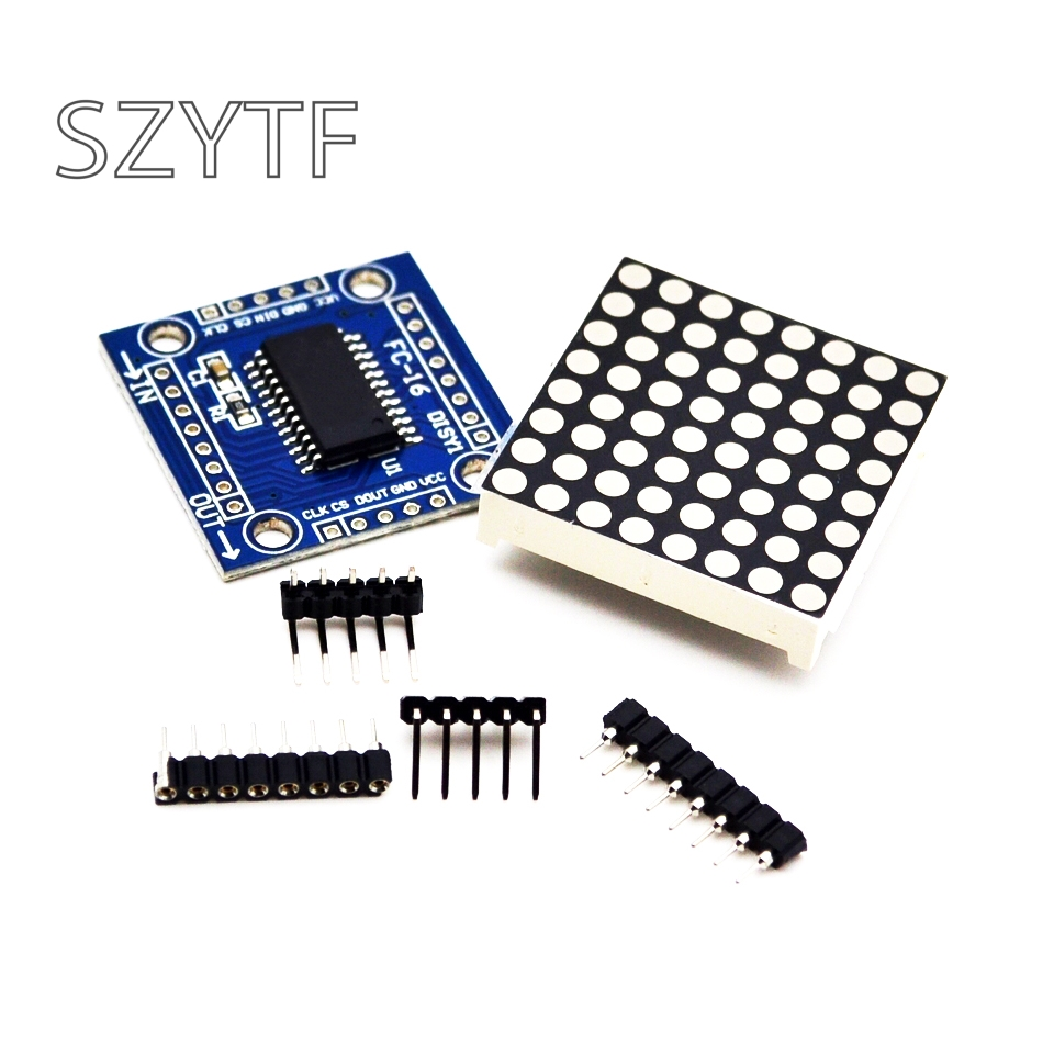 8x8LED dot matrix module MAX7219 display module DIY module MCU control module(China)