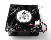 Free Shipping For DELTA  PFR0912XHE, -AM71  DC 12V 4.50A, 90X90X38mm 80mm 4-wire 4-pin connector Server – Square fan