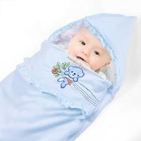 Spring Summer Cotton Infant Baby Sleeping Bag Envelope For Newborn Baby Bedding Wrap Sleepsack Cartoon Baby Blanket Swaddling