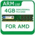 Comercio al por mayor sodimm pc2-6400 ddr2 4 gb 800 mhz ram de memoria para pc de escritorio para amd sistema compatible de alta