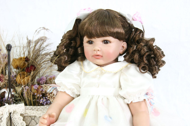 60cm Silicone Reborn Baby Doll Toy Realistic 24inch Vinyl Toddler Princess Babies Doll Fashion Gift Bebe
