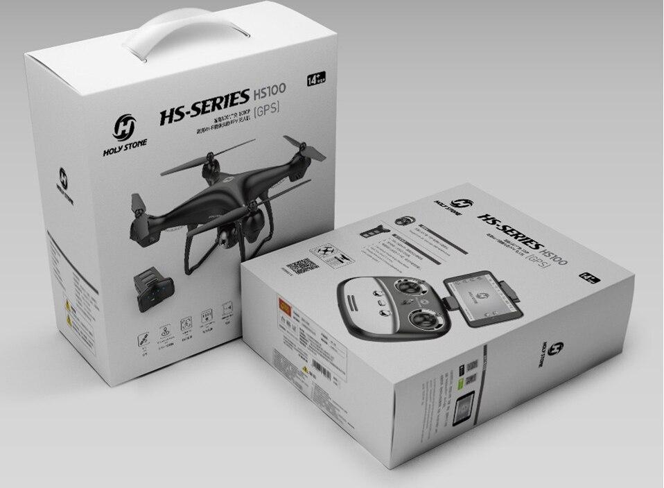 [EU USA JP Stock] Holy Stone HS100 GPS Selfie FPV Drone 500m Flight Range 2500mAh 1080P 7P Camera RC Quadcopter No Tax to EU 30