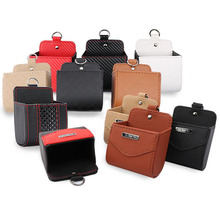 Auto Car Storage Box Leather Socket Mobile Phone Bag Multi-Function Sundries Tool Organizer