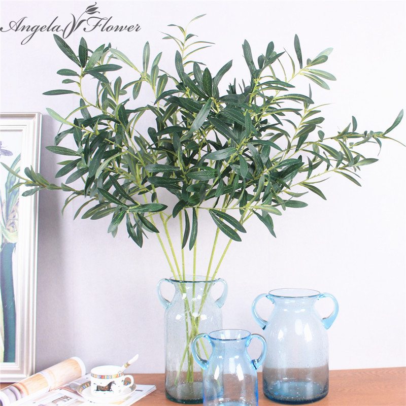 Buy artificial single branch olives leaf for Angela florist decoration