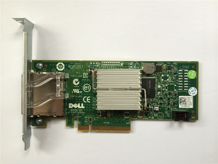 Dell H200E 6Gb//s SAS PCIe HBA 2 Port Ext SFF-8088 12DNW LSI SAS 2008=LSI 9200-8E