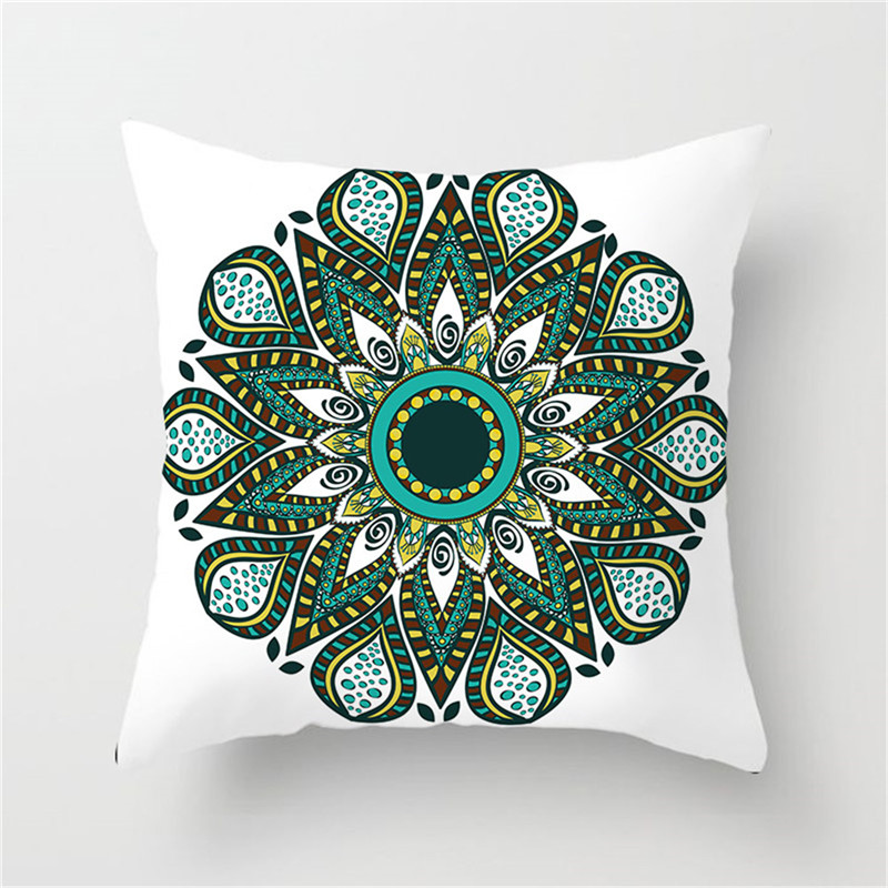 Fuwatacchi Green Flower Throw Pillow Cover Mandala Pattern Cushion Cover for Home Sofa Chair Decorative Pillowcase 2019 in Cushion Cover from Home Garden