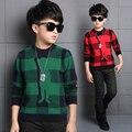 Meninos Marca Camisola Crianças Outono Roupas de Algodão & Lã Criança Blusas de Impressão Big Boy Camisola Crianças Menino Dos Desenhos Animados Blusas