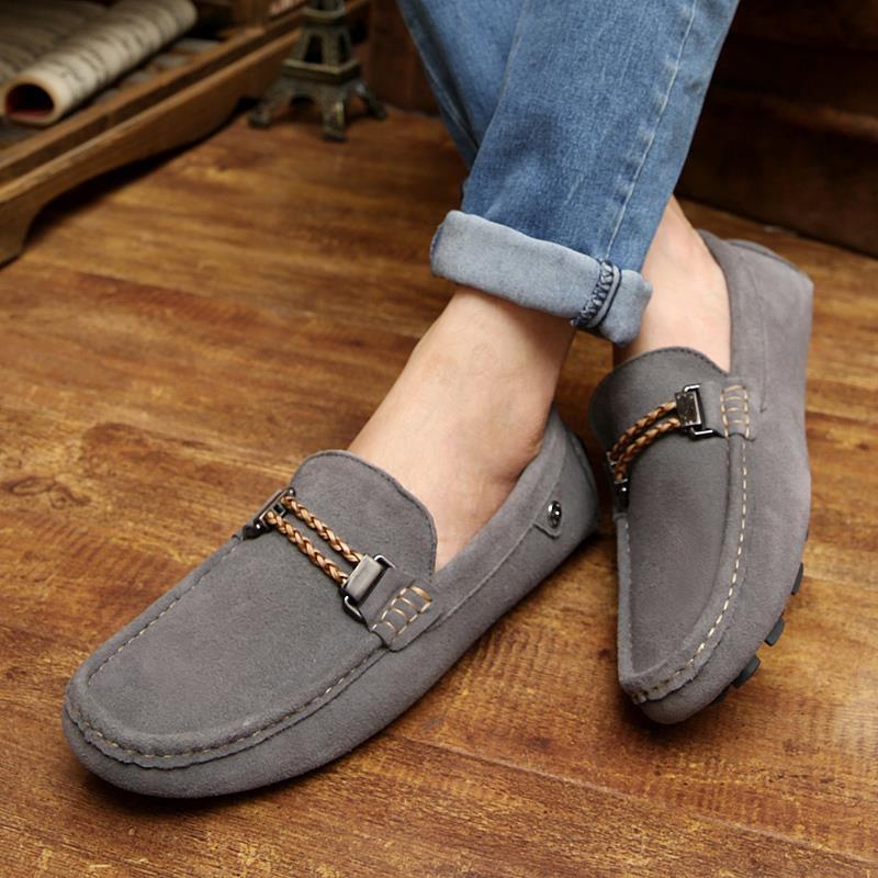 aea5ab94f9 2015 primavera 2016 marca nuevo cuero genuino hombres holgazanes casuales  para hombre zapatos planos mocasines de conducción zapatos mocasines 6.5  9.5 ...