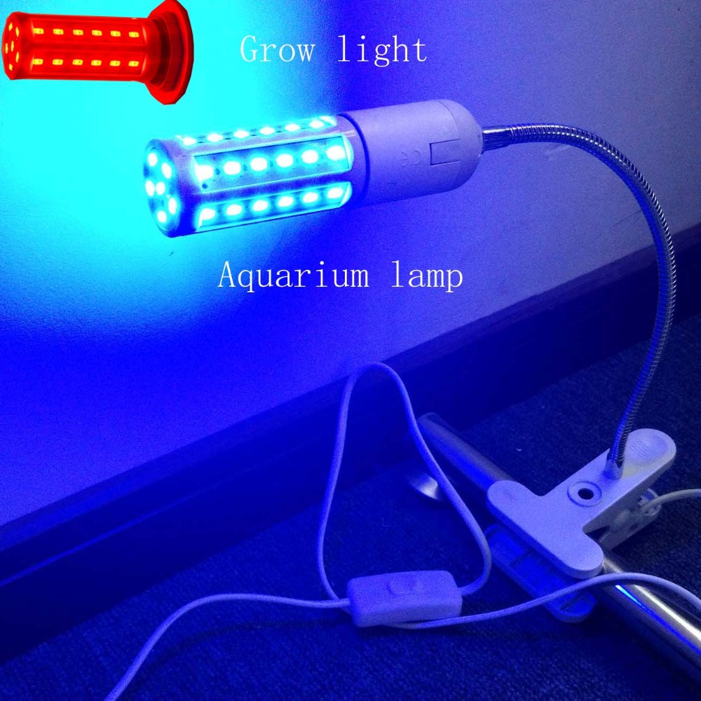 Fish aquarium lighting systems - Red Led Plant Grow Lights Clip Table Light Grow Blue Hydroponics System Fish Tank Lighting 10w