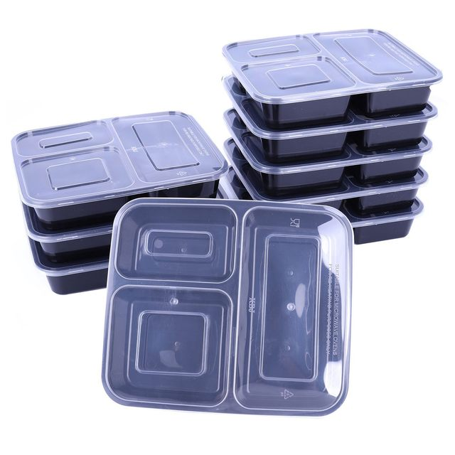 Sdfc Microwavable Meal Prep Plastic Containers Food Storage Reusable Box