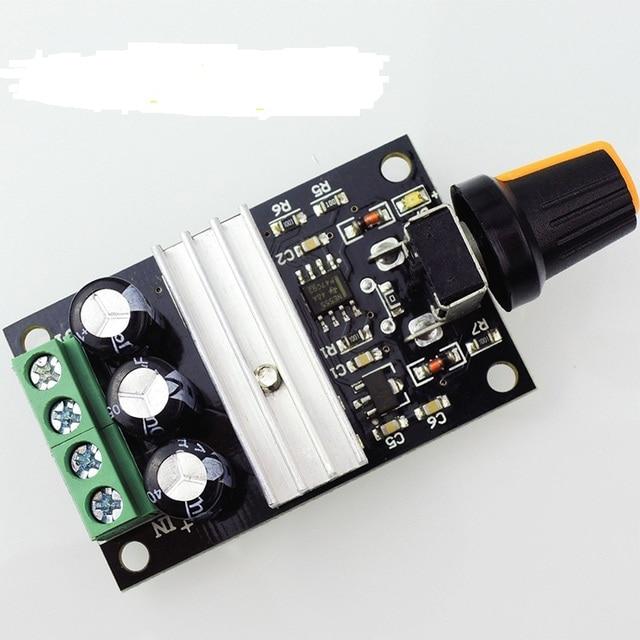 10 pcs DC 6 V-28 V 3A PWM Do Motor Interruptor Do Controlador Regulador de Velocidade Varible