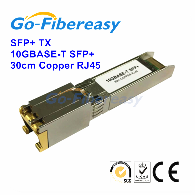 100% New 10GBASE-T SFP+ Transceiver module RJ-45 Copper 30meters