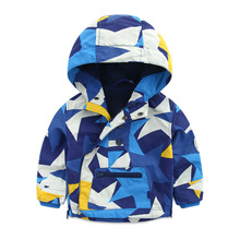 Baby ski-wear, autumn and winter New boy jacket hooded jacket han edition children's clothes Children fall zipper coat