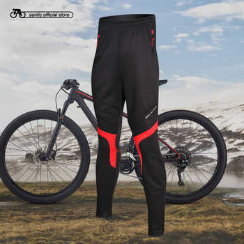Santic Men Cycling Pants Winter Cycling Thermal Pants Running Outdoor Pants Cycling Clothings Asian size M-4XL M5C05066H - DISCOUNT ITEM  33% OFF Sports & Entertainment