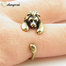 CHENGXUN Vintage Silber Messing Knuckles Einstellbare Leo Simba Lion Tier Wrap Boho Mid-Finger-Ring Big Ringe für Frauen(China)