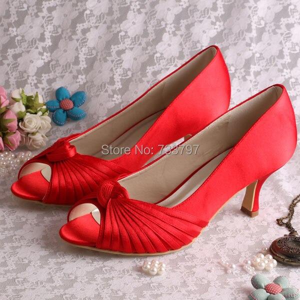 (20 Colors)Custom Handmade Medium Heel 6.5CM Red Pumps Shoes for Women Party